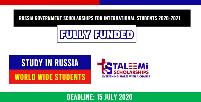 Russian Government scholarships Fully Funded and Partial 2020-21