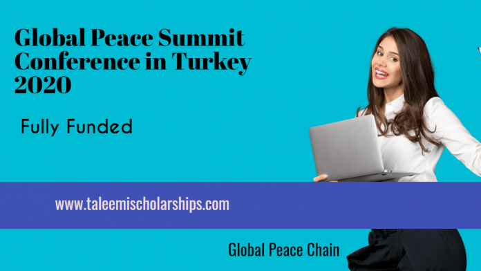 Global peace summit conference in turkey 2020