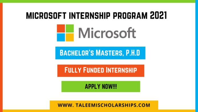 this picture is all about Microsoft Internship Program 2021