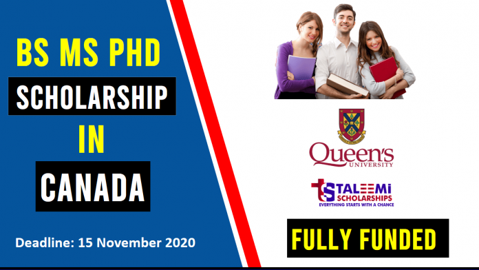 BS MS PhD Scholarships in Canada